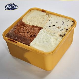MUCHMOORE 玛琪摩尔 进口桶装冰淇淋冷饮雪糕生鲜冰激凌 渴望四合一香草+巧克力+海盐焦糖+曲奇2000ML