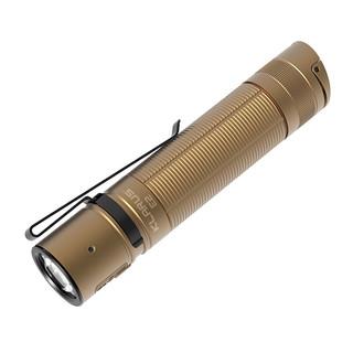 KLARUS 凯瑞兹 E2手电筒强光远射户外家用多功能迷你口袋便携超亮可充电防水小手电 沙色