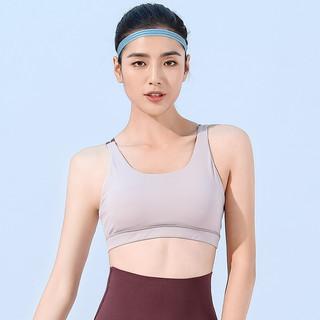 Hodo 红豆 瑜伽服内衣女夏薄款美背健身服背心瑜伽上衣女运动服 花纱粉内衣 S(B75)