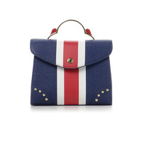 Samantha Thavasa 1810150503 西海岸NY风条纹女式手提包