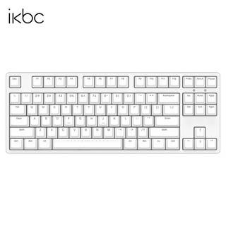 iKBC ikbc87机械键盘游戏电脑外设笔记本cherry樱桃轴有线办公C104正侧刻可选 C87白色有线87键 茶轴