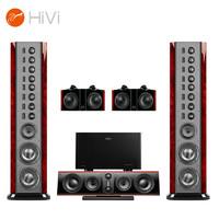 HiVi 惠威 Swans2.8AHT+Q580功放 旗舰家庭影院音响5.0声道 落地式HIFI音箱 私人影院音响