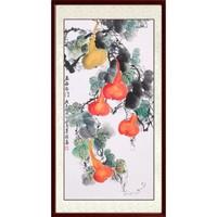 尚得堂 墨翁《五福临门》85×165cm 玄关装饰画葫芦画水墨画
