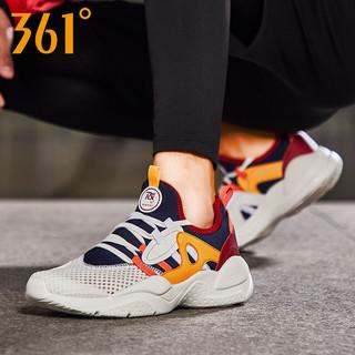 361° 男鞋网鞋透气运动鞋跑步鞋361度春夏季网面轻便舒适休闲鞋子