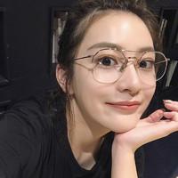 眼镜框女近视眼镜男有度数网红款韩版潮平光镜明星同款平光面眼镜