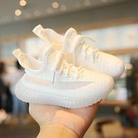 儿童宝宝椰子鞋女童运动鞋透气小童网鞋春夏季2021新款男童小白鞋