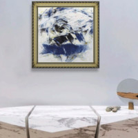 Artron 雅昌 林岗 《洁净的云层NO.2》现代简约北美式欧式抽象油画 55×60.5cm