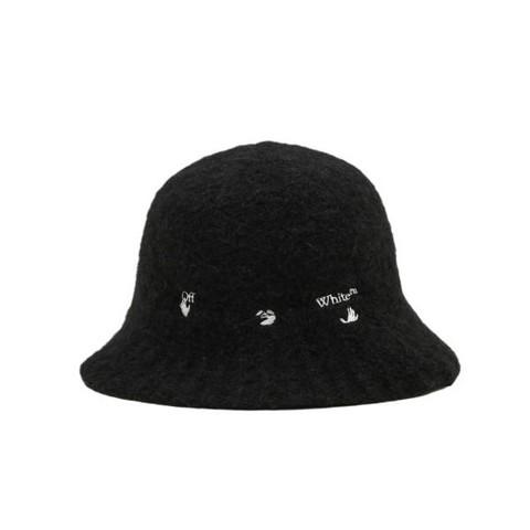 OFF-WHITE c/o VIRGIL ABLOH™ 刺绣毛绒渔夫帽