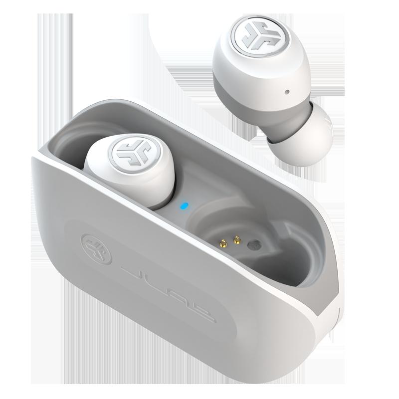 JLAB JLab Go Air无线蓝牙耳机运动跑步 双耳入耳式 苹果华为安卓通用 超长续航音乐通话耳塞耳麦 白色