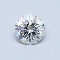 Blue Nile 0.61克拉圆形切割钻石理想切工 | F 级成色 | VS2 净度
