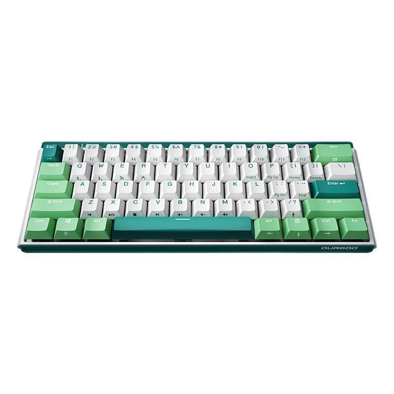 DURGOD 杜伽 K330W 三模机械键盘 薄荷糖 定制-红轴