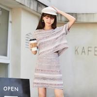 VERO MODA |32031J007 女士透视提花针织半身裙