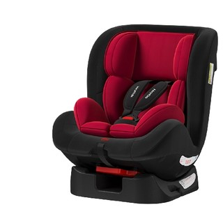 宝童安 儿童安全座椅 0-12岁 豪华红-安全带款
