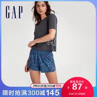 Gap女装LOGO弹力运动短袖T恤683494 2021夏季新款健身跑步上衣