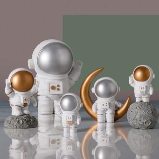 ubaka 优贝家 创意宇航员太空人模型摆件 太空人拥抱款 金色