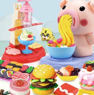 益米 手工彩泥 猪面条机+厨具套装+饺子机+收纳盒+36泥