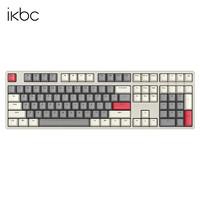 PLUS会员:iKBC W210 2.4G无线机械键盘 108键 茶轴 时光灰