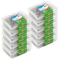 GuangBo 广博 10盒装24mm塑料盒装大头针(50g/盒)办公用品ZD5322