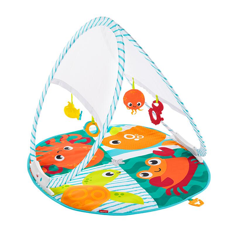 亲子会员专享 : Fisher-Price 费雪 FXC15 婴儿健身架玩具(内含4个玩具)