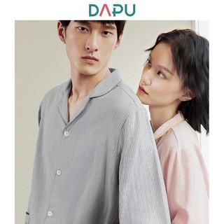 DAPU 大朴 AF1F12202 情侣款纯棉条纹睡衣