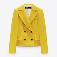 ZARA 03051150300 女装 纹理短款西装外套