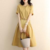 La Babite 拉贝缇 7210201002 女士圆领纯色连衣裙