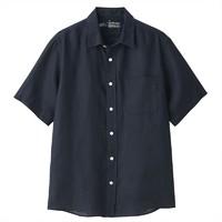 MUJI 无印良品 M9SC423 男士短袖衬衫