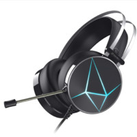 Dareu 达尔优 EH722 钻石版 耳罩式头戴式有线游戏耳机 黑色 3.5mm+USB