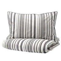 RANDGRÄS 朗德格莱斯 被套和2个枕套 灰色, 条纹 200x230/50x80