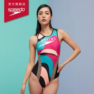 SPEEDO 速比涛 812951F899 女子印花连体泳衣