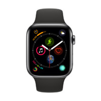 Apple 苹果 Watch Series 4 智能手表 44mm GPS+蜂窝网络 深空黑色不锈钢表壳 黑色运动型表带(GPS)