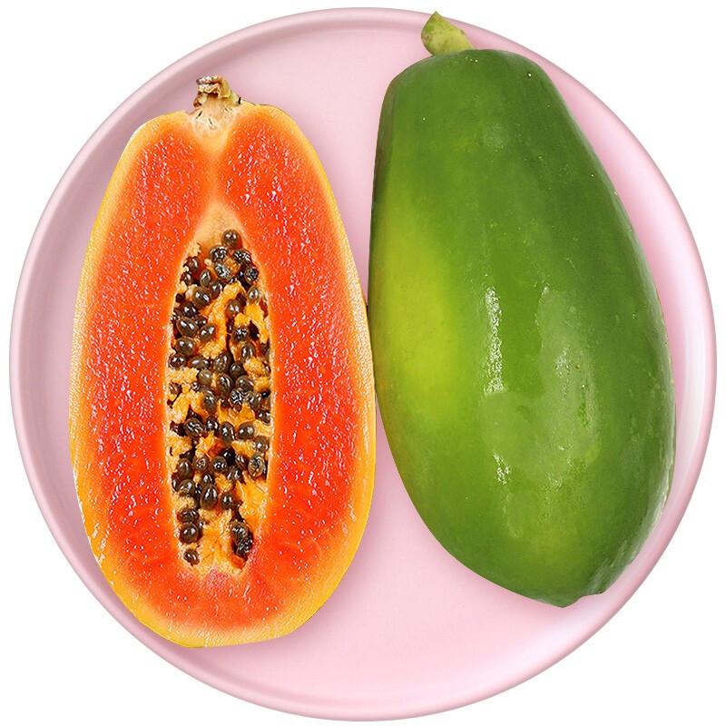 PLUS会员 : 云南高原红心冰糖牛奶木瓜 5斤(净重4.8斤)(低至1.2元/斤,0、10、14、20点补券)