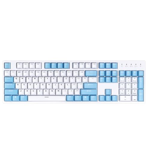 DURGOD 杜伽 K320W 87键 多模无线机械键盘 晴空蓝 Cherry红轴 无光