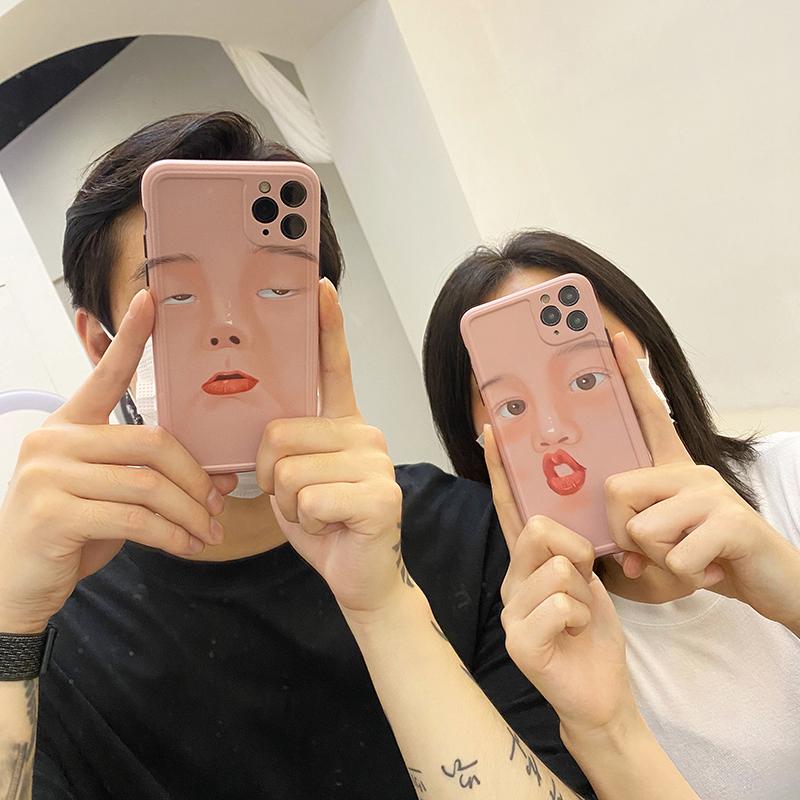 自由光 iPhone12系列 搞怪自拍表情 手机壳