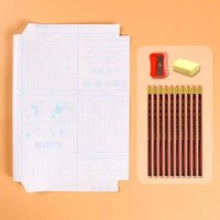 M&G 晨光 1张书皮+卷笔刀+10根铅笔+橡皮