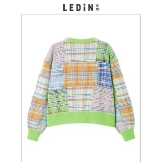 LEDIN 乐町 C2EEA1102 女士彩格子针织衫