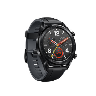 HUAWEI 华为 Watch GT 运动款 智能手表 46mm 黑色不锈钢表盘 黑色硅橡胶表带(北斗、GPS)
