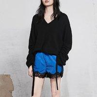 MO&Co. 摩安珂 MA181SWT305W08 女士V领纯色羊毛衫