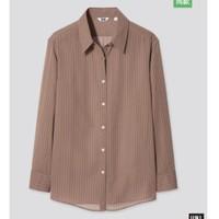 UNIQLO 优衣库 438459 女士长袖衬衫