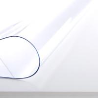 竹月阁 软玻璃塑料PVC桌布 无味款透明1.0 70*70cm