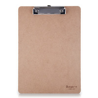 GuangBo 广博 A26116 平夹型木质A4书写板夹 棕色 单个装