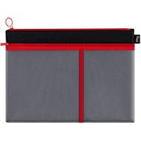 fizz 飞兹 FZ103005 A4拉链文件袋 赤炎红 单个装