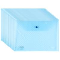 GuangBo 广博 A6399 A4透明文件袋 蓝色 20个装