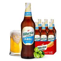 京东PLUS会员:WUSU 乌苏啤酒 新疆特产乌苏小麦白啤酒 465ml*12罐