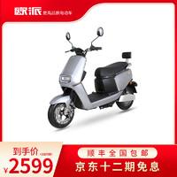 OPAI欧派2021款K1新国标豪华电动车摩托车电摩60V72可上牌V电瓶车踏板电摩 升级金属钛灰