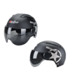 Andes HELMET 333 摩托车头盔 哑黑星 黑茶短片
