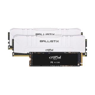 Crucial 英睿达 铂胜Ballistix DDR4 3600频率 台式机内存条 16GB(8G×2)套装  +1TB SSD固态硬盘M.2接口