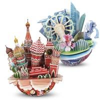 CubicFun 乐立方 城市模型创意3D立体拼图