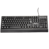 aigo 爱国者 W910 休闲版 104键 有线薄膜键盘 黑色  无光