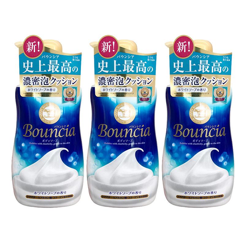 Cow 牛乳石硷 bouncia 浓密泡沫沐浴露 500ml*3件装